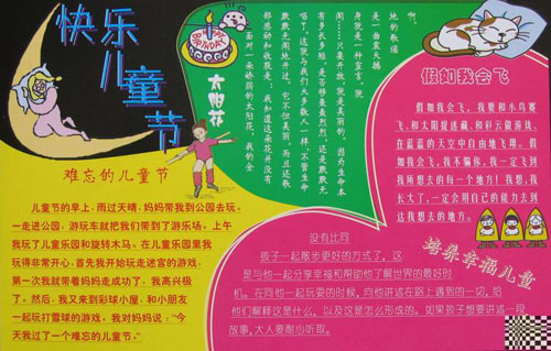 根据  六一儿童节手抄报 的介绍,儿童节手抄报的编绘制作的步骤