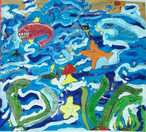 林菁菁油画:海底世界