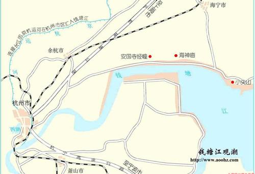钱塘江位置地图